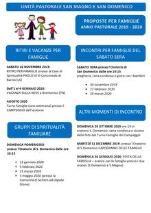 Calendario Pastorale 2020.Parrocchia San Domenico Legnano Homepage